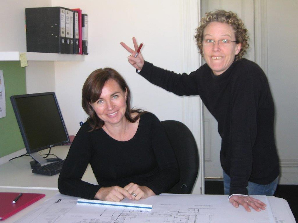 Jane (left) and Jenny hard at work in 200000