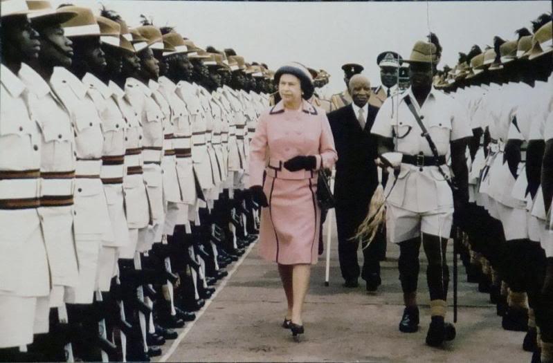 Queen Elizabeth II in Zomba, Malawi
