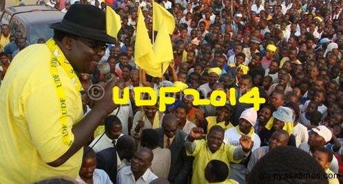 Lucius Banda Campaigns for UDF