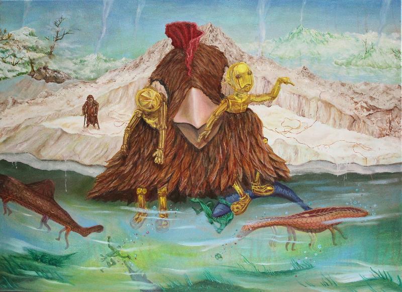 靠近天堂的那塊無害淨土 Strangerland  油彩畫布  70x56.5cm  2013 (1).JPG
