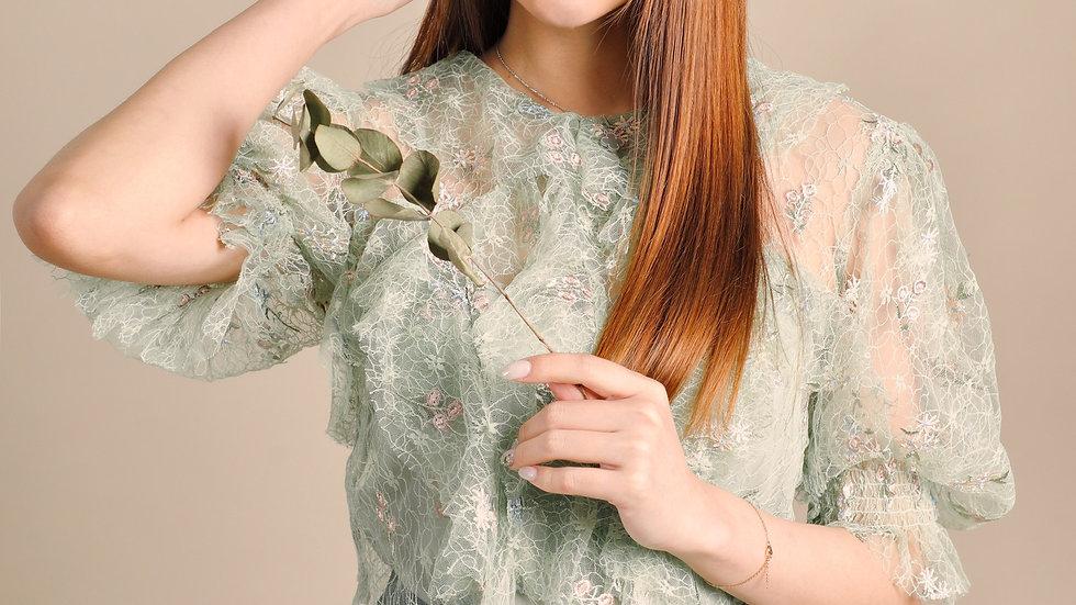 KanaLili Emma Ruffled Lace Top
