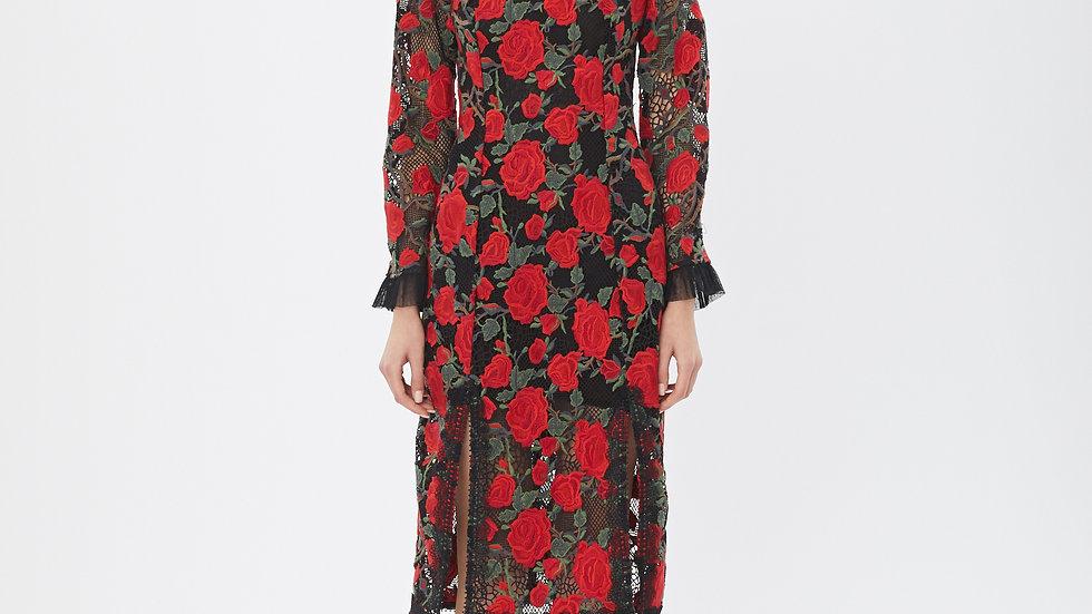KanaLili oriental rosy lace dress