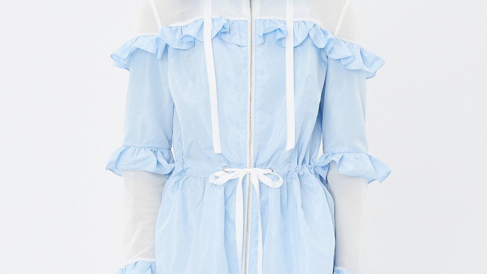 KanaLili ruffles windbreaker - baby blue