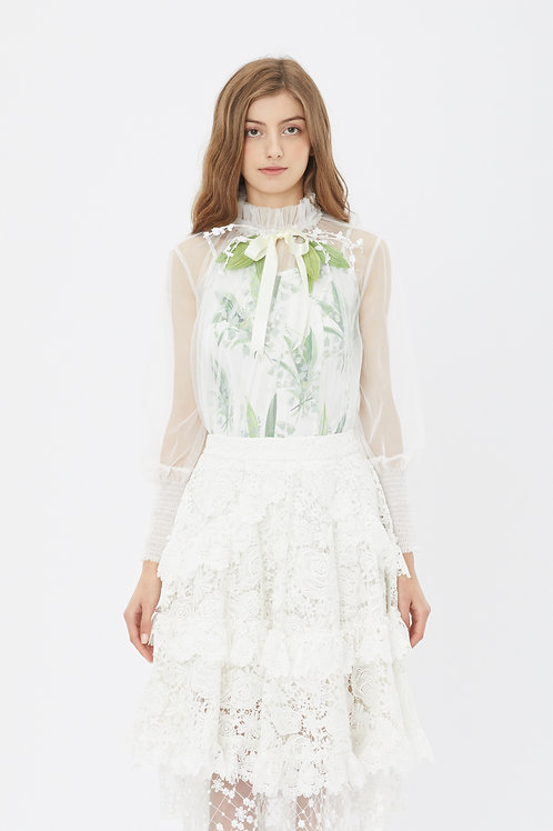 KanaLili lily of the valley mesh top