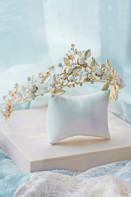 Pamycarie x KanaLili Lily of the Valley Gold-plated Crown