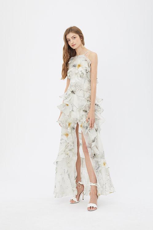KanaLili lily silk maxi dress