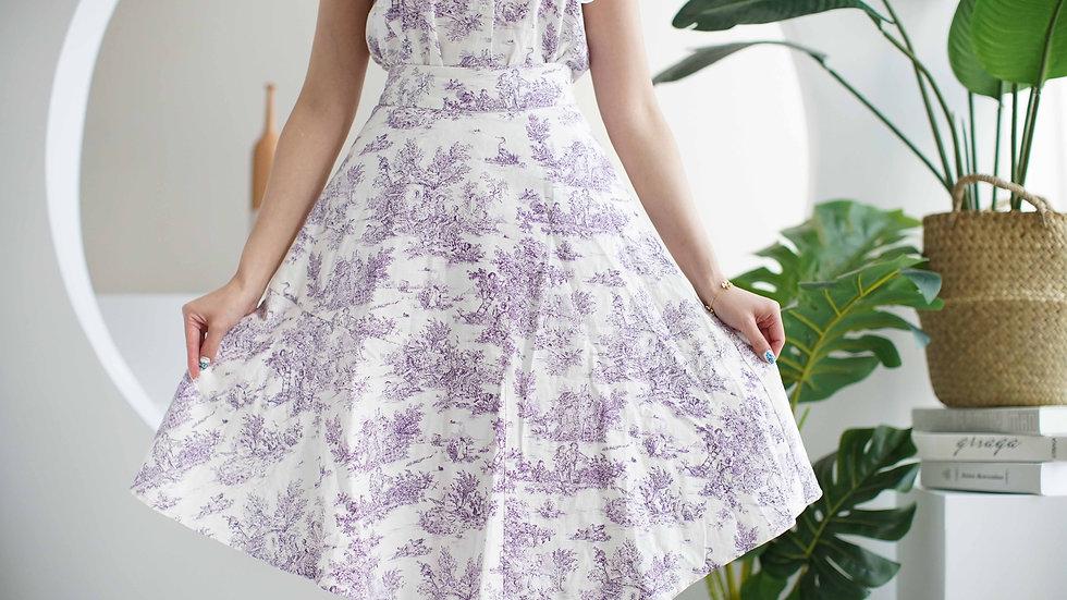Kanalili Mila Toile de Jouy Printed Skirt