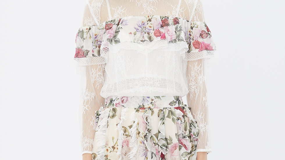 KanaLili rosiest lace top