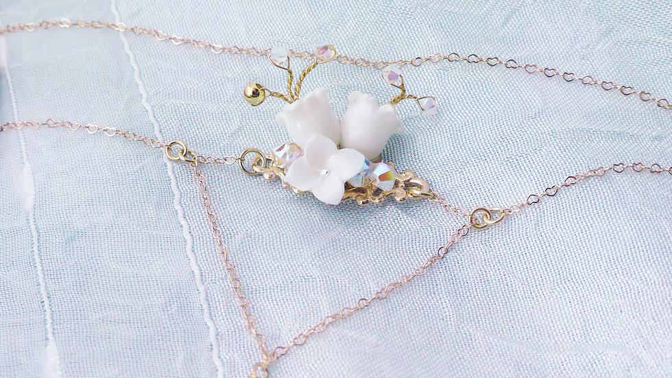 Pamycarie x KanaLili Lily of the Valley Gold-plated 925 Silver T-Bracelet