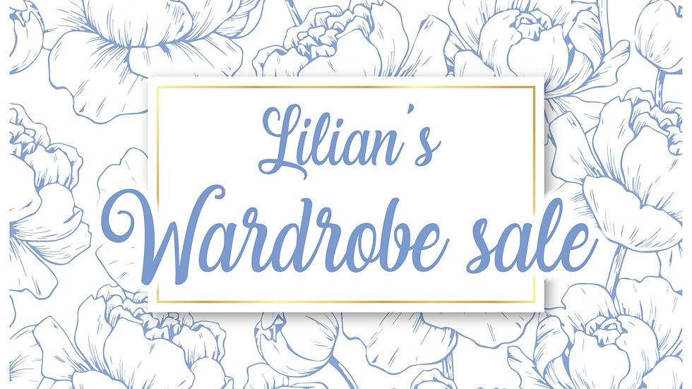 wardrobe sale payment