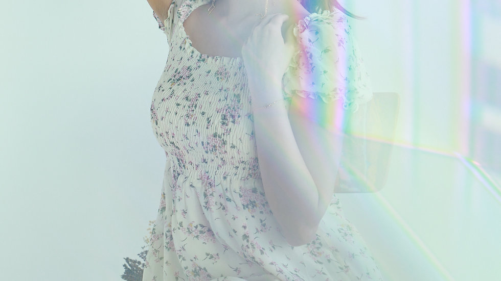 Kanalili Lily Floral Printed Midi Dress