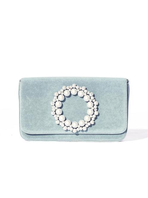 Violacea Clutch Velvet Bag Mint