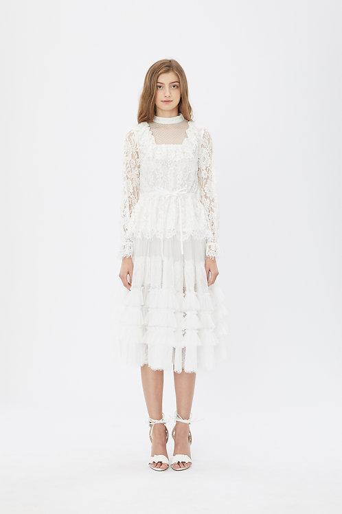 KanaLili daydreamy lace layered skirt