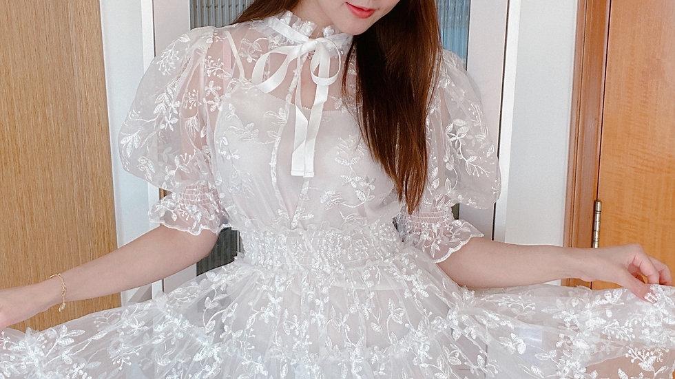 Kanalili Ava Tulle Dress in White
