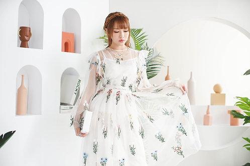 Kanalili Botanic Embroidered Dress
