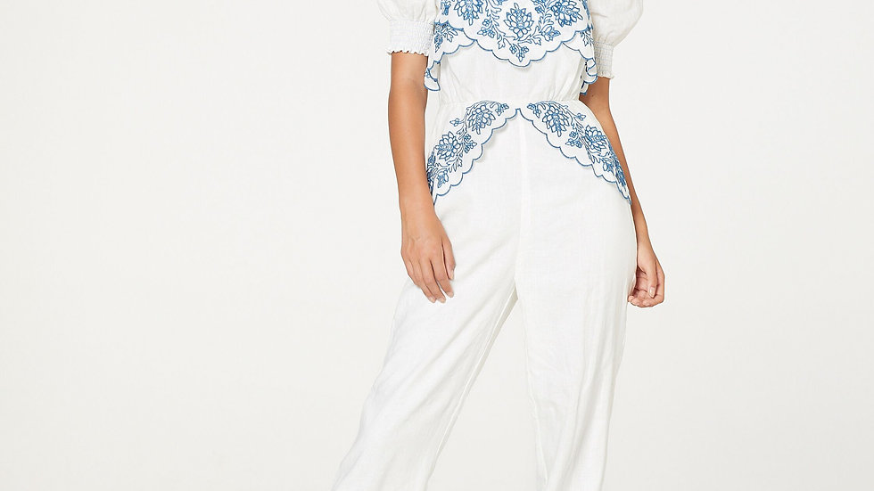 STEVIE MAY BLUE MUSE JUMPSUIT
