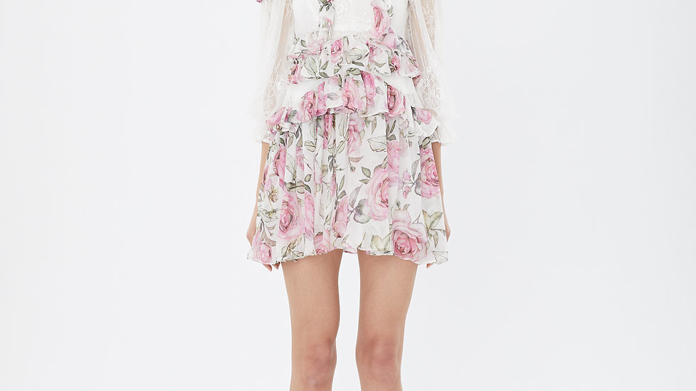 KanaLili rosiest pink silk dress