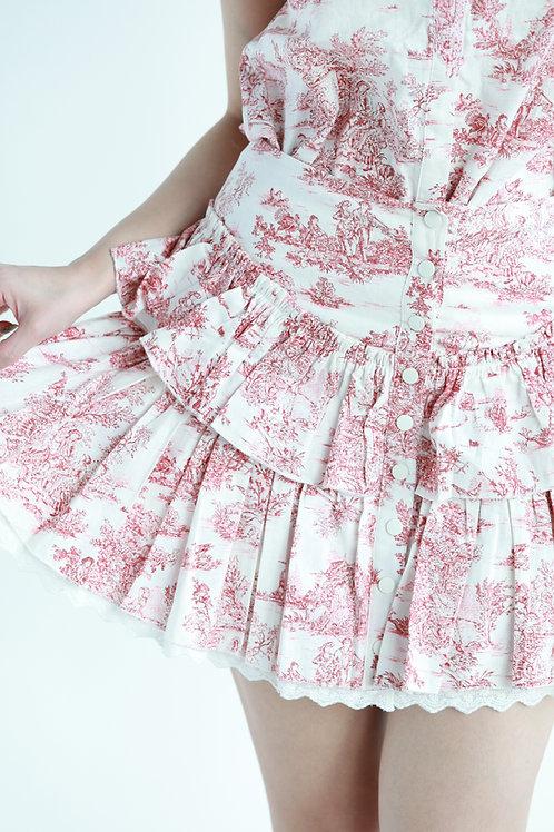 Kanalili Toile de Jouy Printed skirt