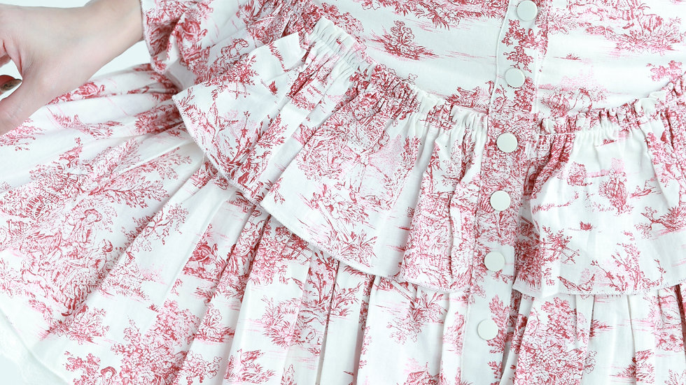 Kanalili Toile de Jouy Printed Mini Skirt
