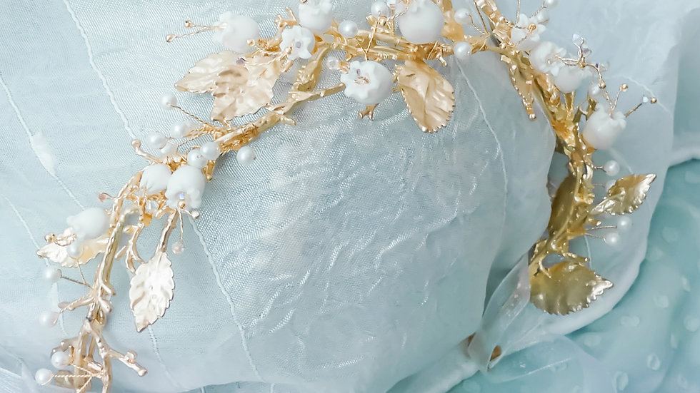 Pamycarie x KanaLili Lily of the Valley Gold-plated Tiara