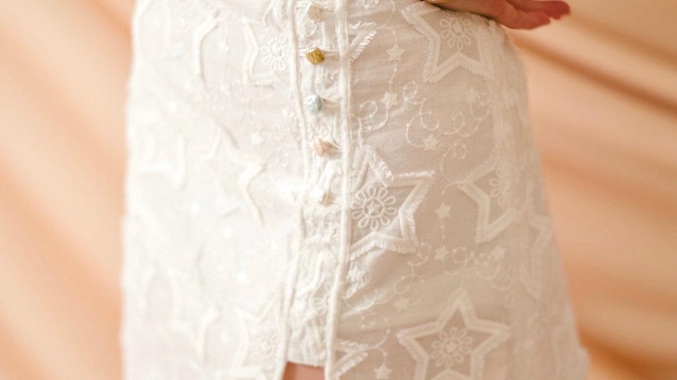 Kanalili Stella Star Tassel Embroidered Mini Skirt