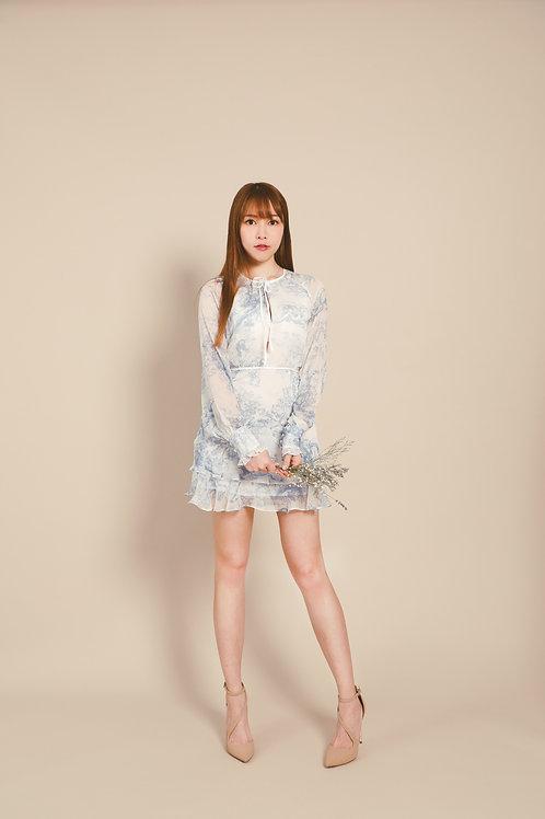 Kanalili long sleeve mini dress