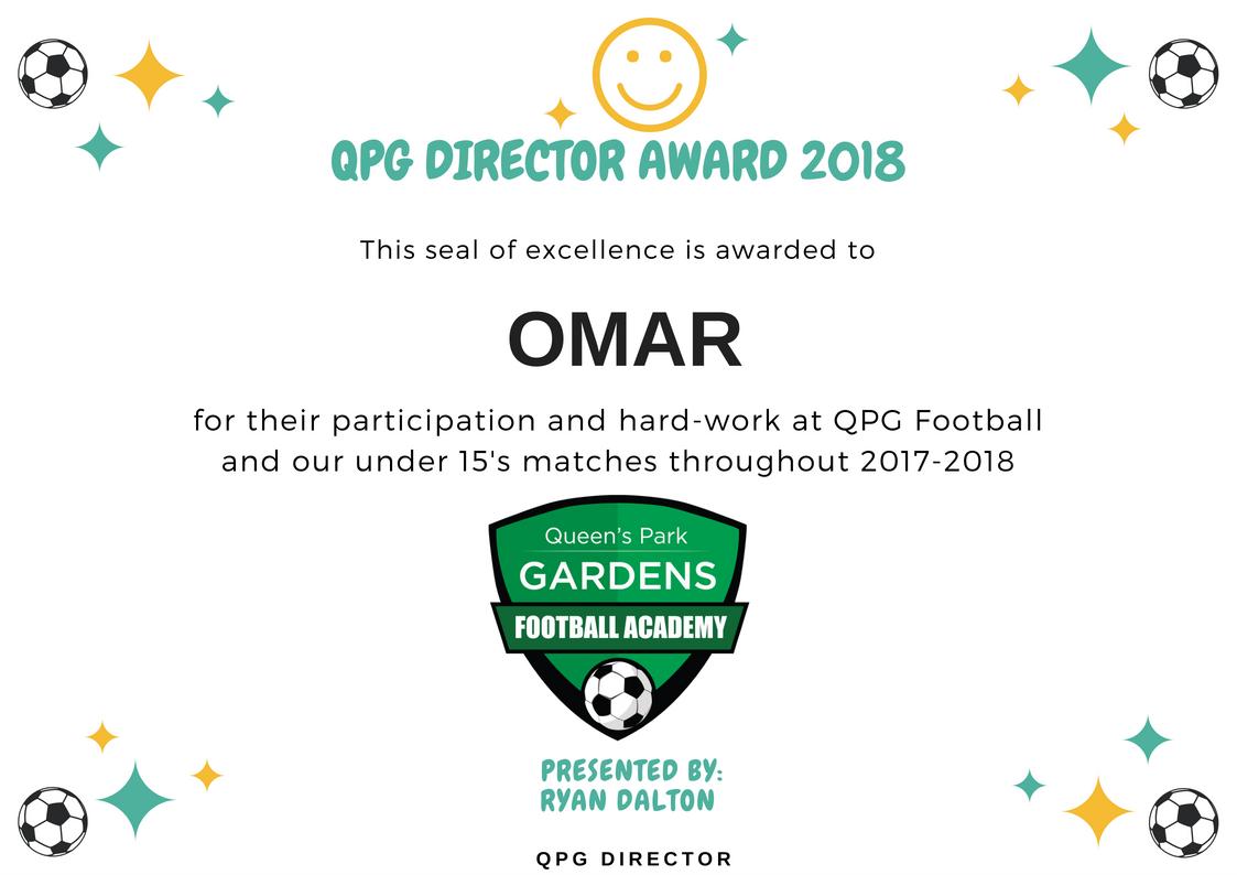QPG Director Award 2018