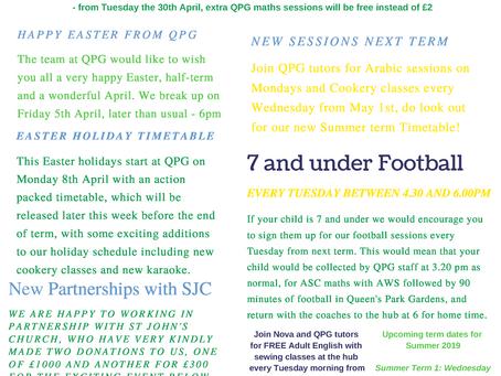April - QPG Newsletter For Wilberforce Pupils