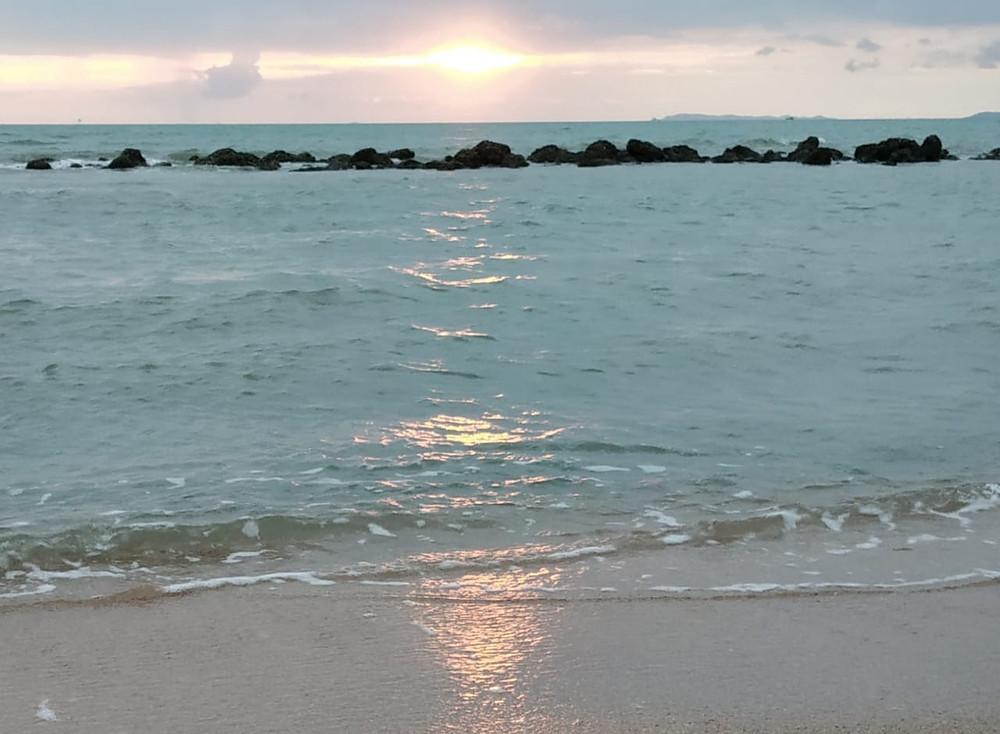 Sunrise, Sunrise by the beach