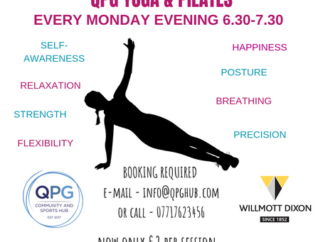 Yoga & Pilates Sessions Now £2!