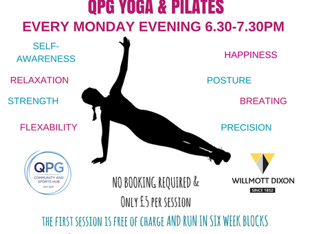 Extra Yoga & Pilates Available Now!