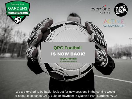 QPG Football Returns on Sunday 25th April 2021