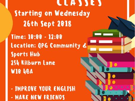 Brand New QPG English Classes!