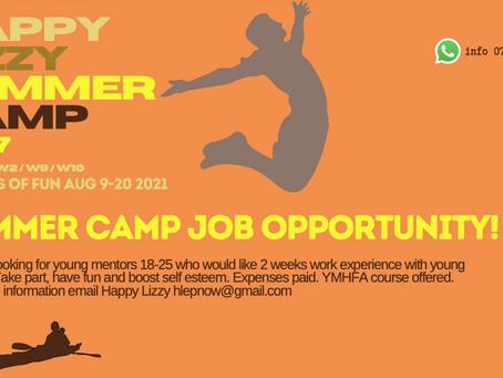 Summer Camp Summer Job Offer Aged 18-25