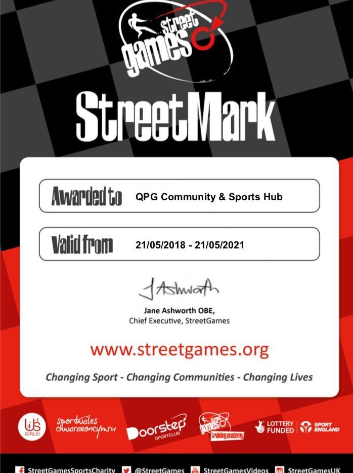 StreetGames' StreetMark Award