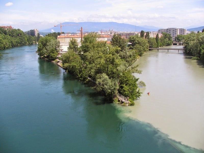 Rhone and Arve rivers, Switzerland