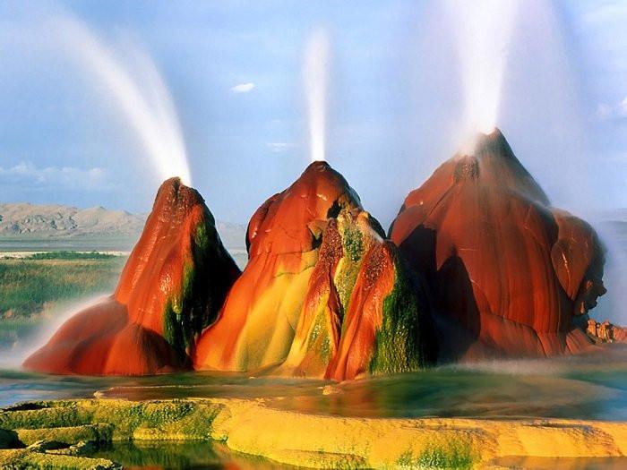 Fly geyser, Nevada,USA