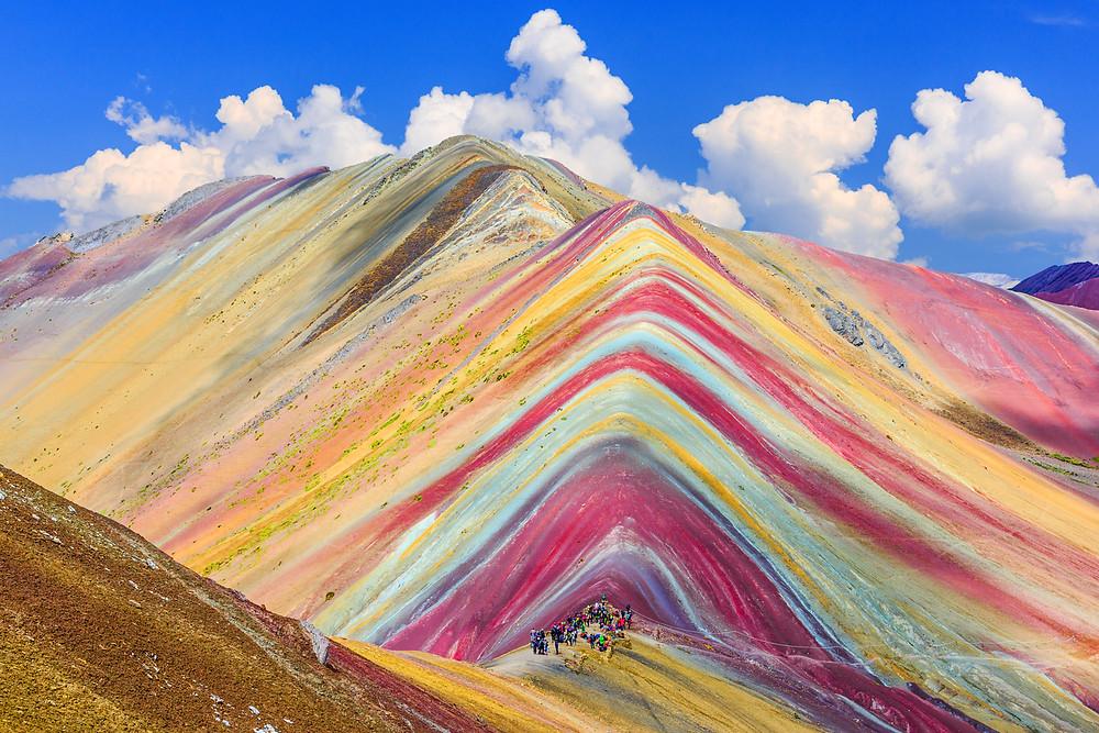 Rainbow mountains, Peru