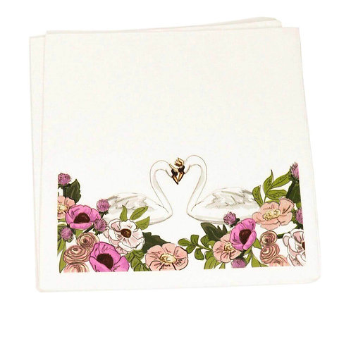 African American Swan Princess Party Napkins