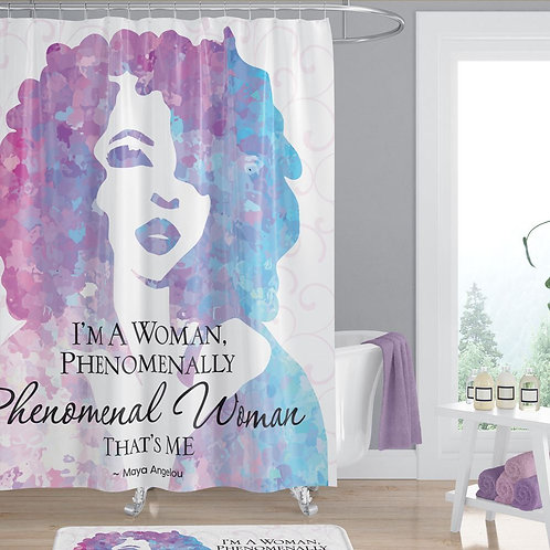 Phenomenal Woman Shower Curtain
