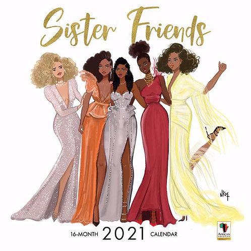 Sister Friends 2021 Wall Calendar