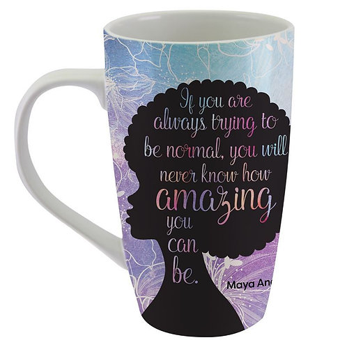 "Maya Angelou ""Amazing""  Latte Mug"