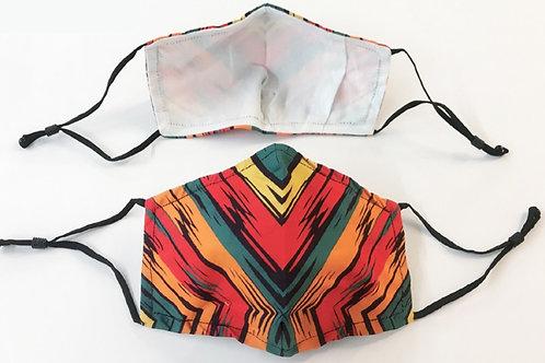 Sunset Stripes set of 2 face masks