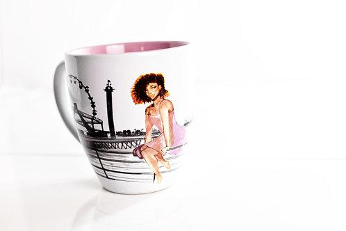 Crowned in Curls Coffee Mug
