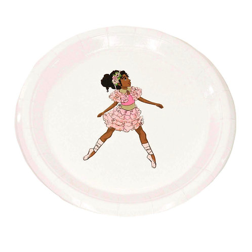 African American Ballerina Large Party Plates