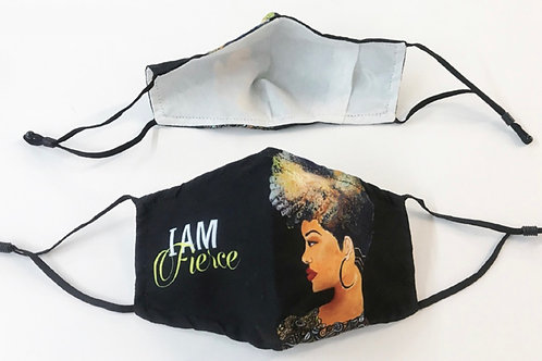 I am Fierce set of 2 face masks