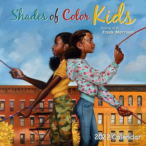 Shades Of Color Kids 2022  Wall Calendar