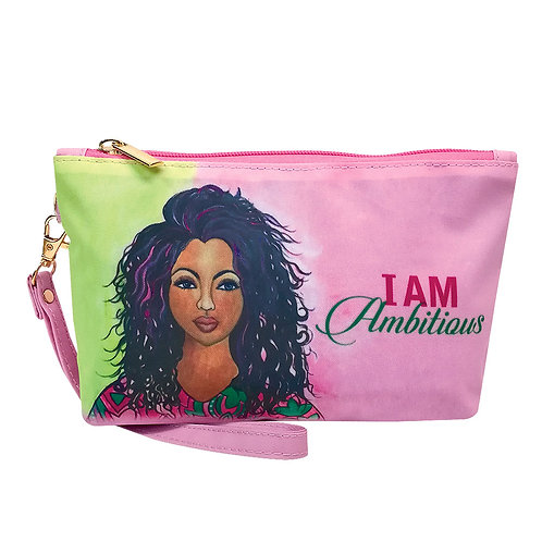 I am Ambitious Cosmetic Bag