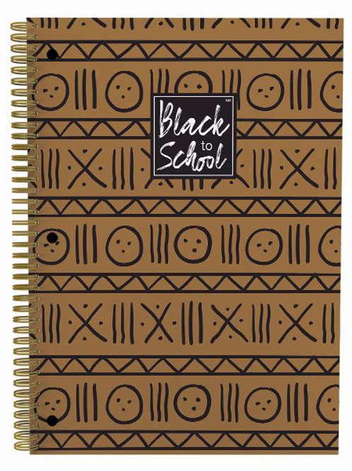 Brown and Black Patterns Large Notebook