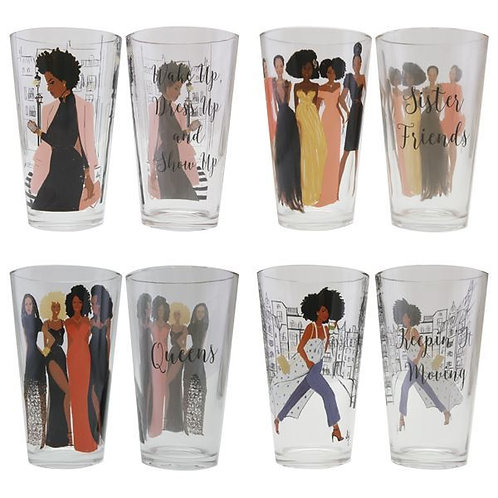 Sister Friends Drinking Glass Set